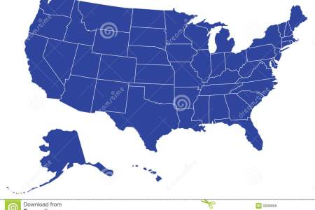 usa/united states map (separable borders vector) royalty