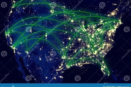 united states night map stock photo image 42631056