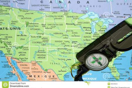 usa map and comp stock images image 36043524