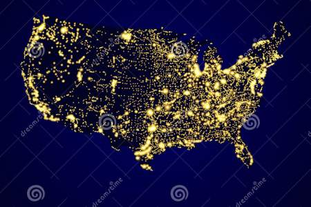usa map night royalty free stock photography image 36127087