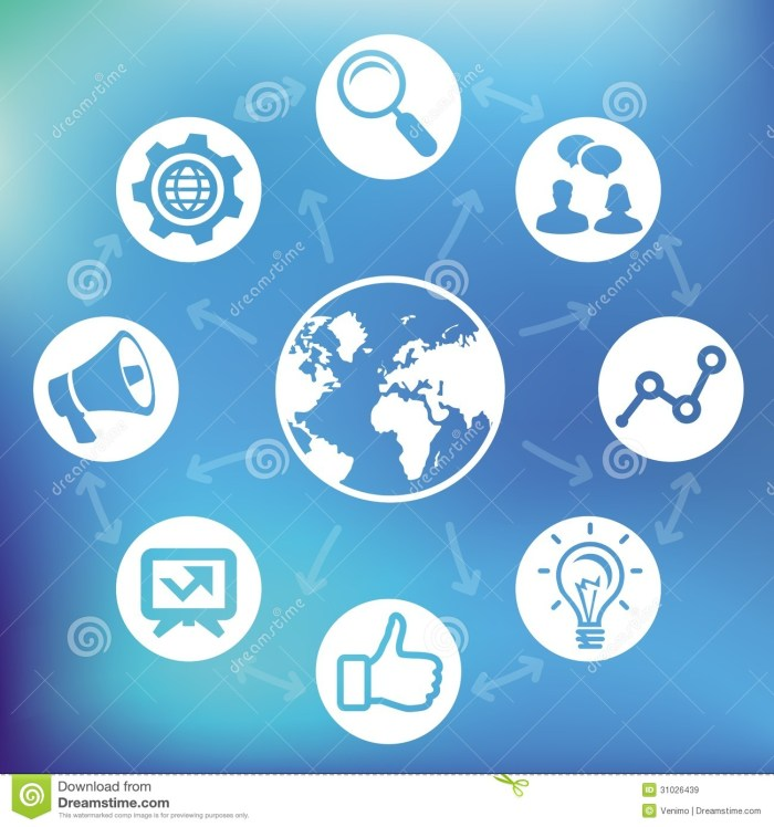 Marketing Social Media Icons Vector Images