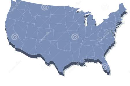 vector map of the united states of america stock