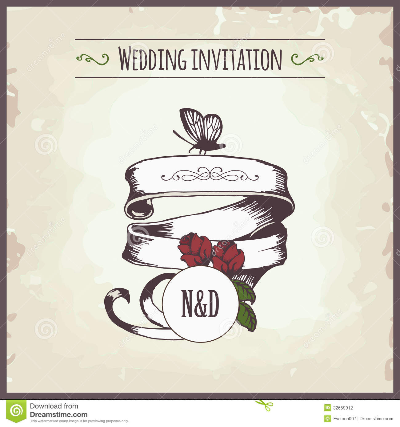 stock photography wedding invitation card template butterfly background image butterfly wedding invitations Wedding invitation