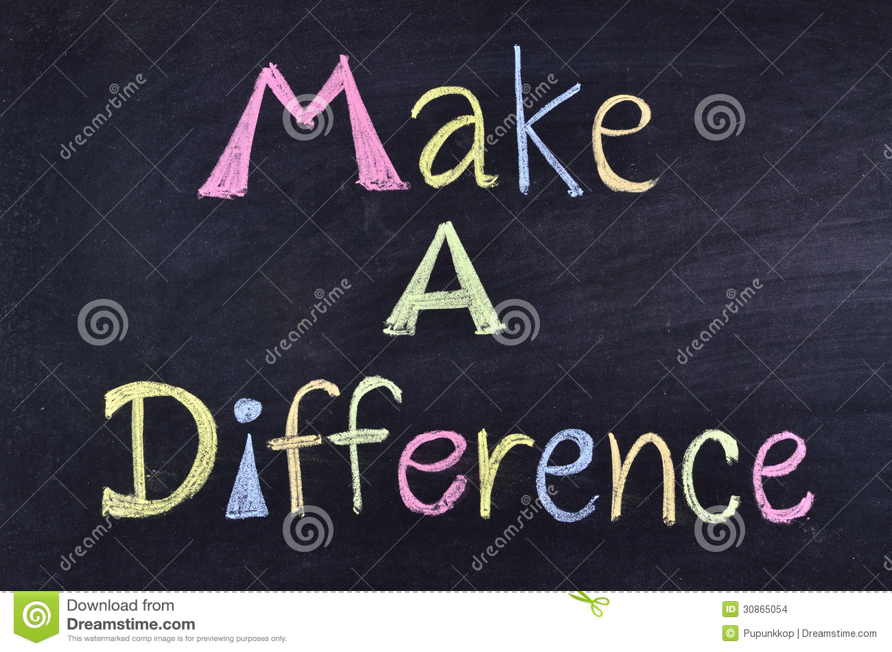 Word make a difference stock photo  Image of phrase  hand   30865054 Word make a difference