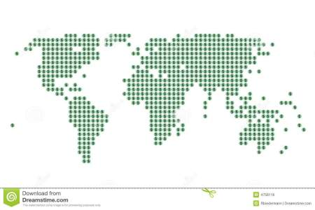 Map with dots world map green dots dollar sign 4758116 gumiabroncs Image collections