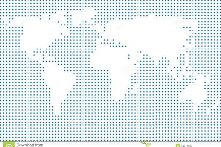 Map with dots world map made dots colorful illustration small polka 34771993 gumiabroncs Choice Image