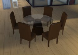 Inspirational 6 Round Table X Mod Sims 6 Sydney Lazy Susan Round Table Round Table