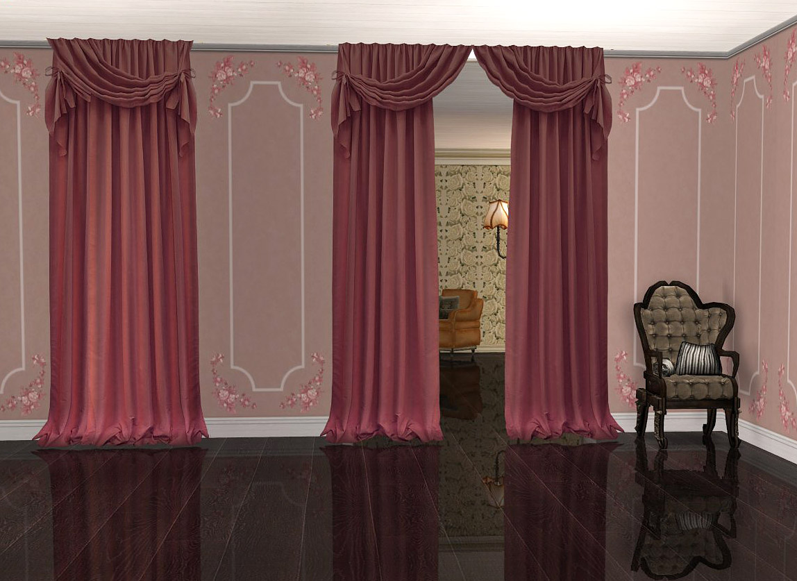Peaceably Fabric Curtains Mod Sims Project Bedroom Part Set Sims 4 Open Curtains Sims 4 Curtains Recolors baby Sims 4 Curtains