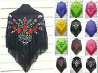 Spanish flamenco embroidery shawl manton 5 colors to choose