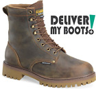 "Men's Carolina Boots CA8588 -  8"" Waterproof Insulated Steel Toe Low Heel Logger"