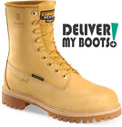 "Men's Carolina Boots CA7145 - 8"" Waterproof Insulated Wheat Nubuck"