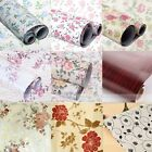 Country Flower Self Adhesive Contact Paper Shelf Drawer Liner Wallpaper 200x45cm