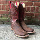 ANDERSON BEAN MEN'S BEIGE AND RED BOAR WESTERN BOOTS S3010