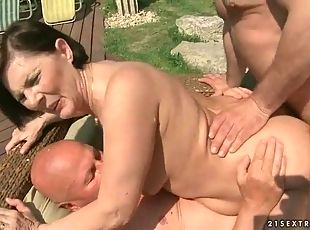 old granny group sex