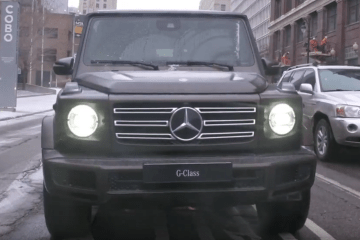 Dennis Archer former Mayor of Detroit rides the G-Class
