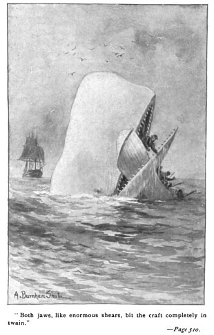 Melville's White Whale. Illustration from an 1892 Edition.
