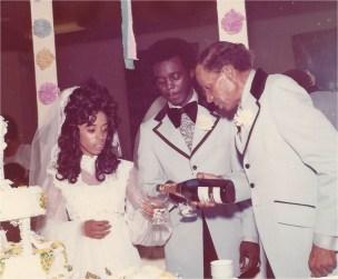 Bride Thylias with Calvin