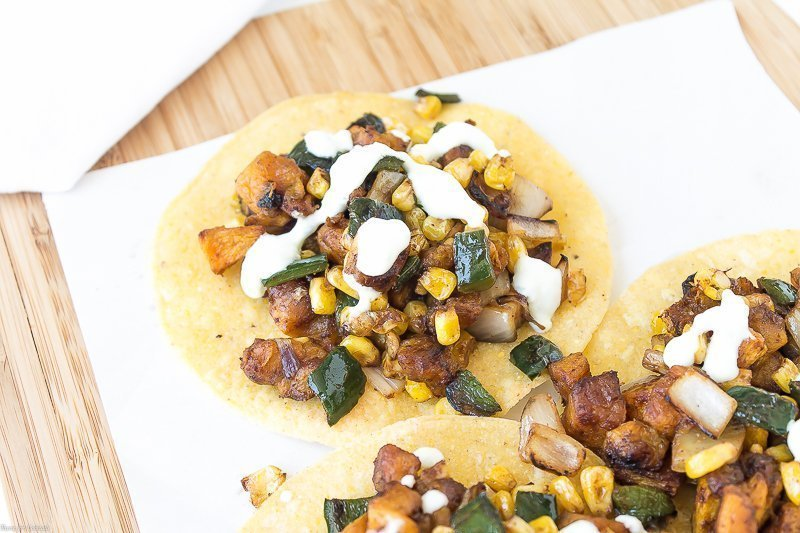 Chipotle Butternut Squash Tostadas ~ Thyme for Cocktails