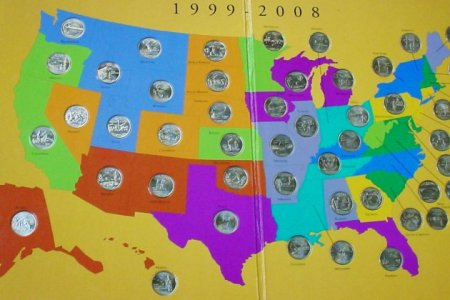 fifty state quarter collection board submited images.