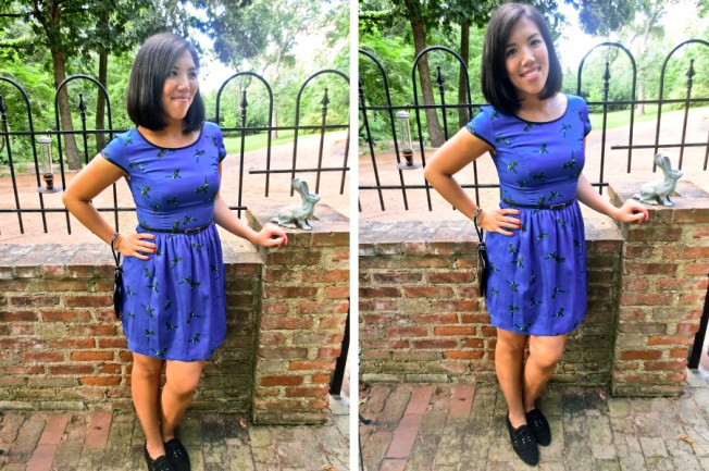 outfit post: kenzie dress, katie spade clutch, UO flats   tide & bloom