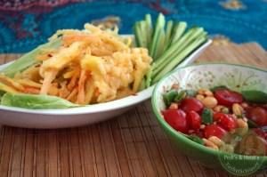 Thailand: Frittierter Mango-/oder Papayasalat