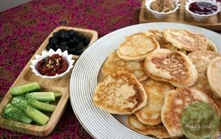 Türkische Joghurt Pancakes - Kaşık Dökmesi / vegan