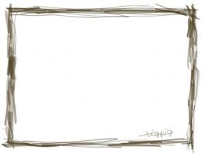 飾り枠のフリー素材:シンプルな鉛筆風ラインの飾り枠の大人かわいいwebデザインのフレーム素材
