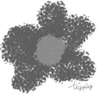 アイコン(twitter)のフリー素材:北欧風デザインのシンプルな花;200×200pix