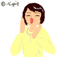 笑顔で応援している女性のイラスト:200×200pix