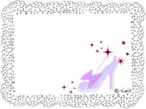 大人可愛い薄紫のハイヒールとモノトーンのレースのフレーム(640×480pix)