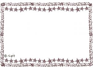 ナチュラルなネットショップ制作に使える星とロープのフレーム:640×480pix