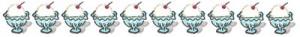 アイスクリームのイラストの飾り罫:400×50pix