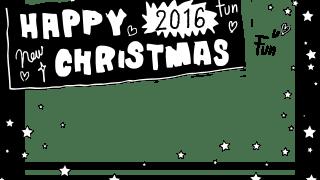 クリスマスのweb制作に使える手書き文字HAPPY CHRISTMASのモノトーンのフレーム:640×480pix