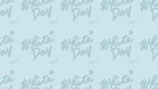 【ホワイトデー】背景・壁紙に使えるWhite dayの手書き文字のweb素材<ペールブルー>:600×600pix
