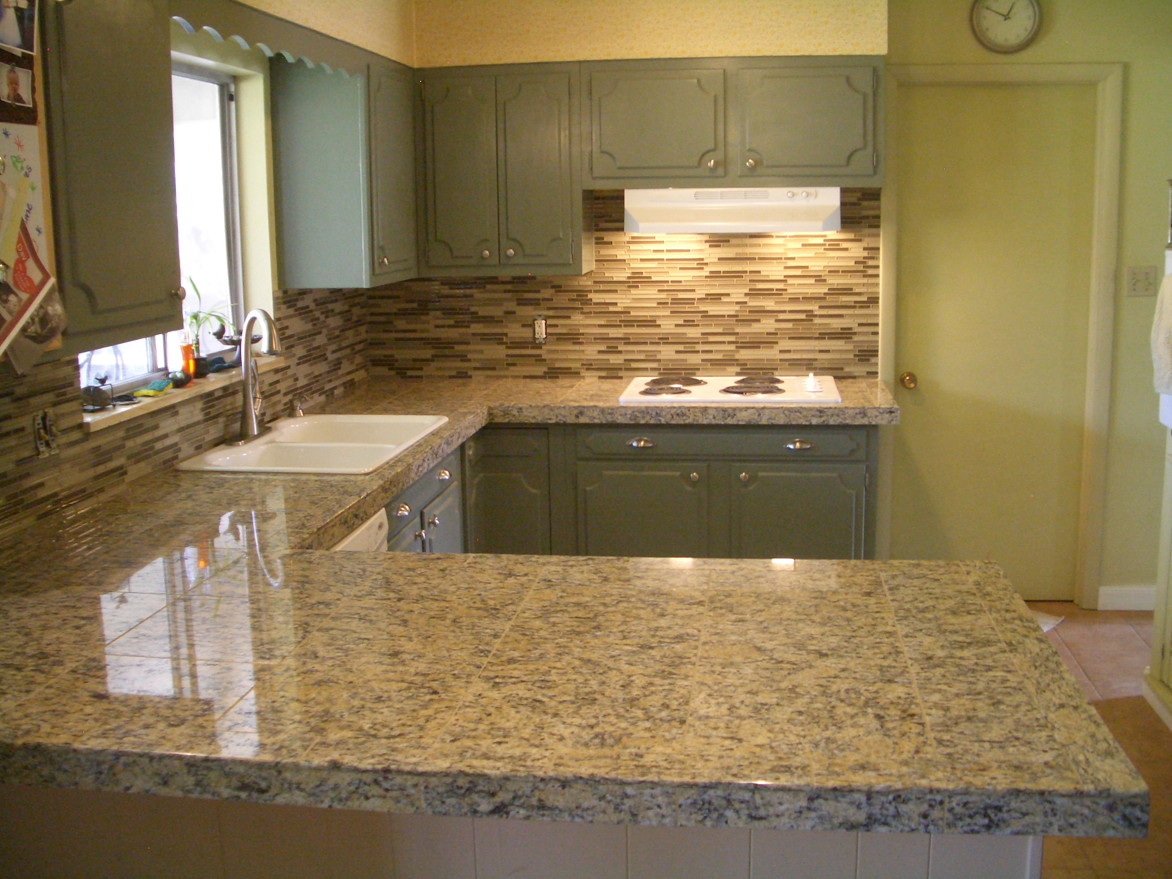 glass tile kitchen backsplash special glass tile kitchen backsplash Beige stack glass tile backsplash