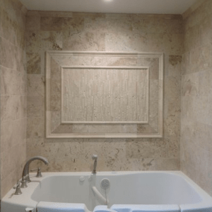 Travertine Bath Surround