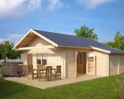 Summer House with Shed Bristol 43m² / 70mm / 7 x 7 m