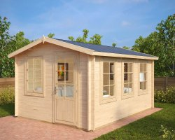 Garden Log Cabin Eva C 12m² / 40mm / 3,2 x 4,4 m