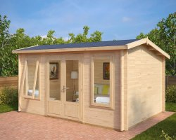 Contemporary Garden Room Eva D 12m² / 40mm / 3,2 x 4,4 m