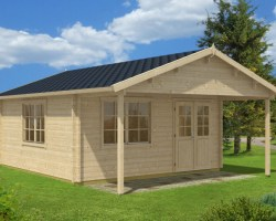 Large Garden Summer House Carl 22m² / 70mm / 5 x 5 m