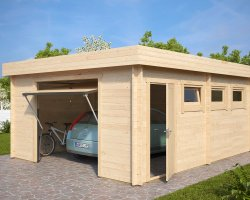 Modern Garage D with Up and Over Door / 44mm / 4,5 x 5,5 m
