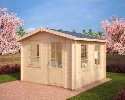 Garden Summer House Nora C 8,5m² / 40mm / 3,2 x 3,2 m