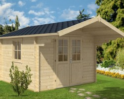 Log Cabin Sunset B 9m² / 40mm / 3,2 x 3,2 m
