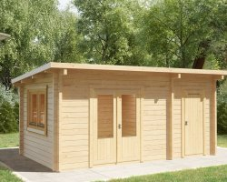 Garden Room and Shed Combined Super Tom / 44mm / 3 x 5 m