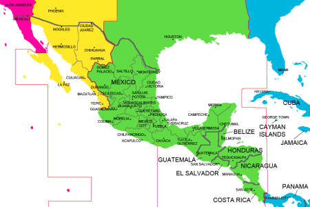 pics photos time zones map usa and mexico