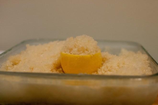 Lemon and ginger granita