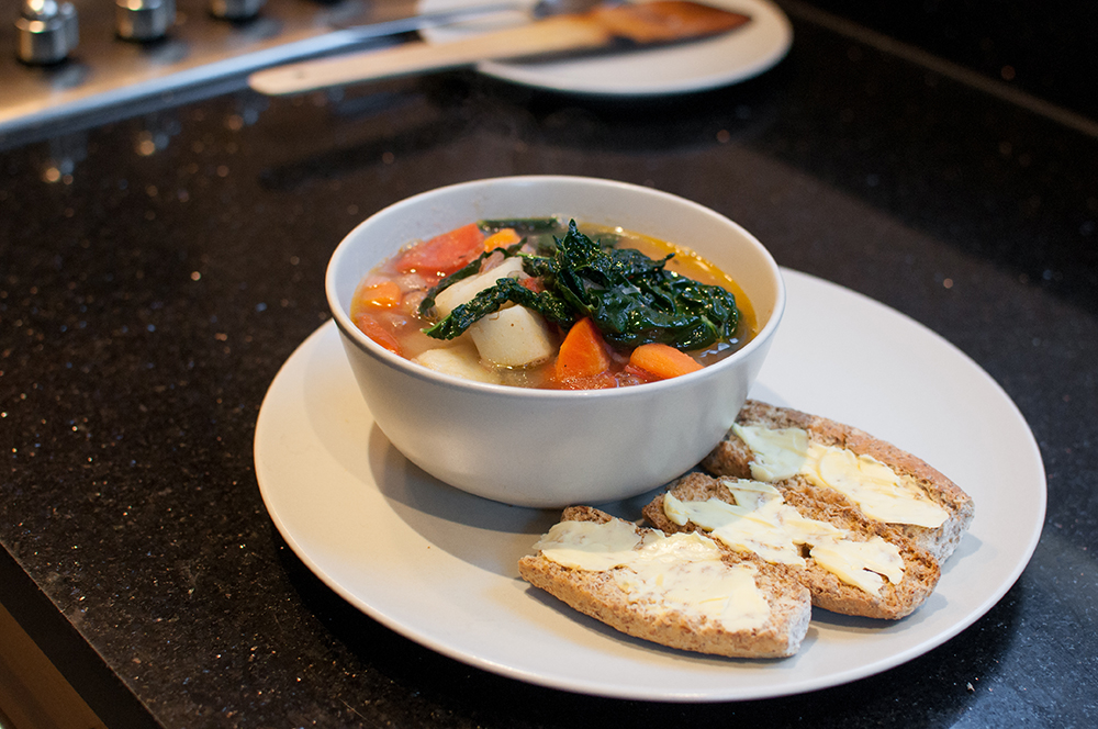 Minestrone Soup with Krisprolls