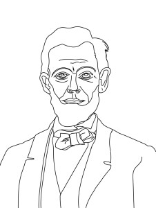 Lincoln Coloring Sheet900