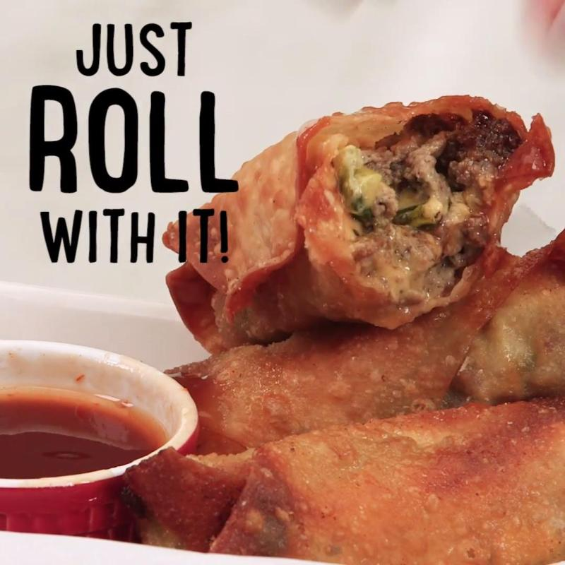 Large Of Cheeseburger Egg Rolls