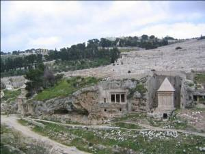 Leaving Jerusalem, Jesus and his disciples would have crossed the deep Kidron Valley separating the city from the Mount of Olives. On one side they would have seen the numerous tombs that covered the slopes of the southern side of the mount (see Holzapfel, A Lively Hope, 133–36)
